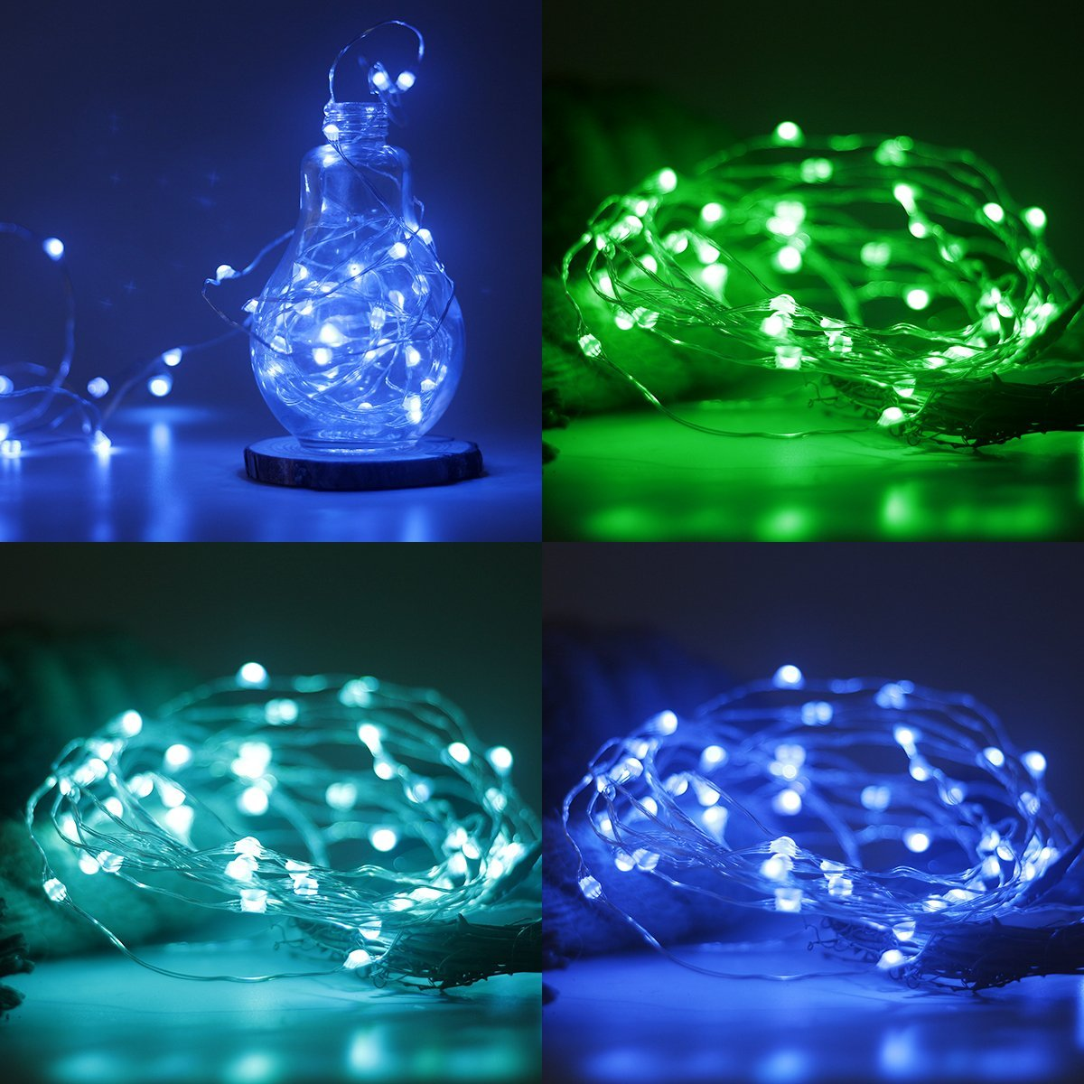 Fairydecor Led String Lights Battery Powered Multi Colour